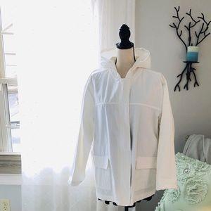 Cotton White Sports Jacket by Blassport XL